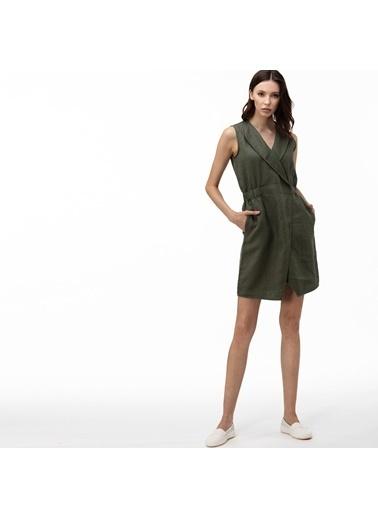 Lacoste Kadın Kruvaze Elbise EF0011.11H Yeşil